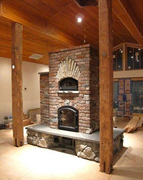 nice masonry heater | Stove fireplace, Cooking stove, Home ...