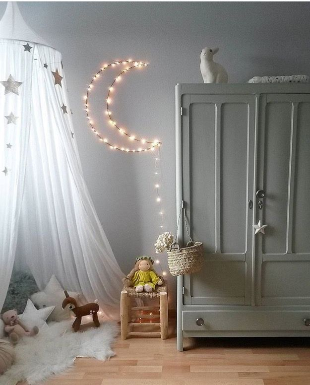 LUNE LUMINEUSE chez Perrine Kids room Pinterest Perrine, Lune - guirlande lumineuse pour chambre bebe