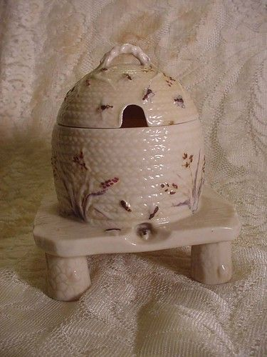 Belleek Lustre Beehive Honey Pot with The 1st Black Mark Dated 1863 18 | eBay