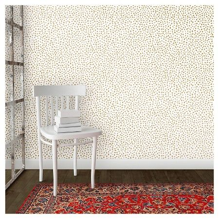 Speckled Dot Peel Stick Wallpaper Metallic Gold Opalhouse Peel And Stick Wallpaper Small Space Design Small Spaces
