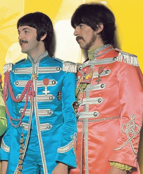 Paul And George Sgt Pepper Outfits The Beatles Beatles Sgt Pepper Beatles George
