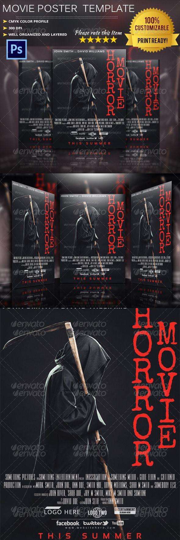 Horror Movie Poster Template | Pinterest