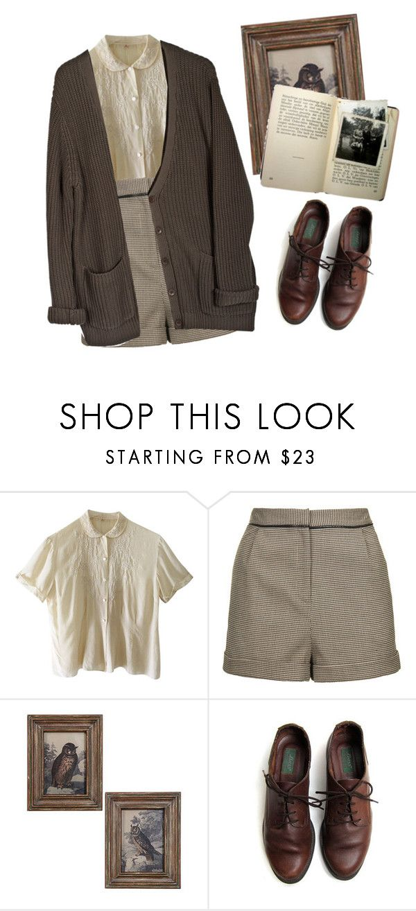 """""""listen to birds"""" by aininsofeas ❤ liked on Polyvore featuring Topshop, Cheap Monday, vintage, french, art, brown and oldskool"""