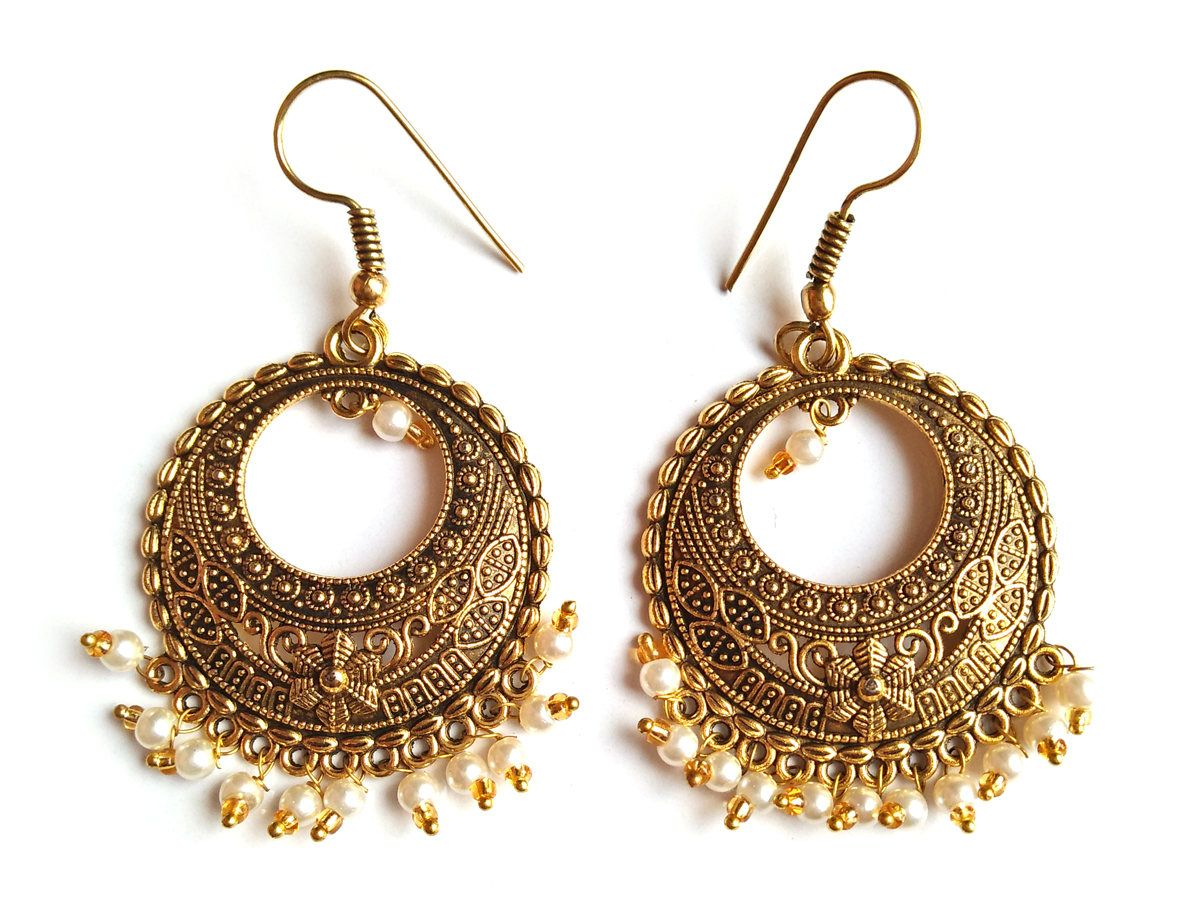 Pomegranate Traditional Fan Earring With Citrine FqWotzkA