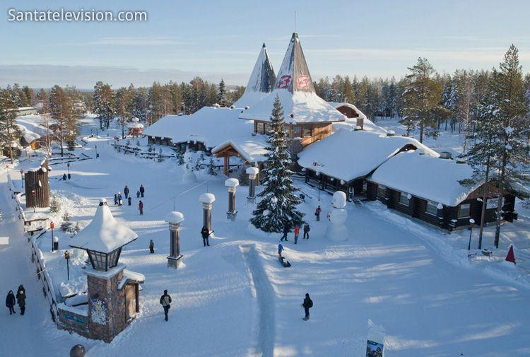 Immagini Del Villaggio Di Babbo Natale.Veduta Aerea Del Villaggio Di Babbo Natale Al Circolo Polare