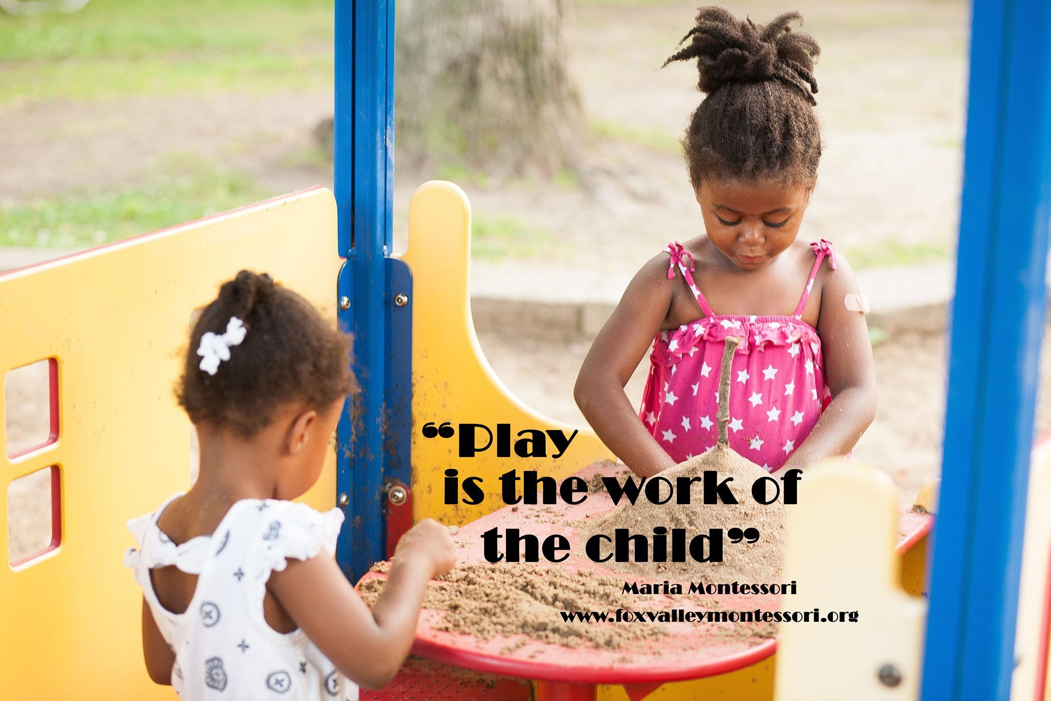 Play Is The Work Of The Child Maria Montessori Quote