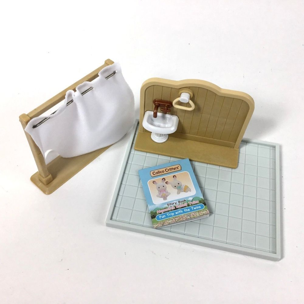 Sylvanian Families Country Bathroom Set Replacement Pieces Lot Of 3 New Sylvanian Bathroom Sets Country Bathroom Sylvanian Families
