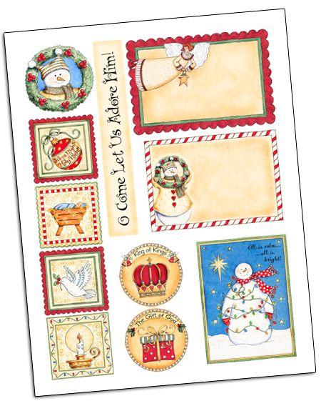 Free Christmas Tags Download | Navidad, Imprimibles y Imágenes de ...