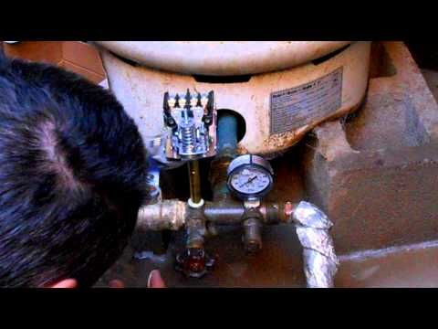 Replacing a well pressure switch & properly re-pressurizing