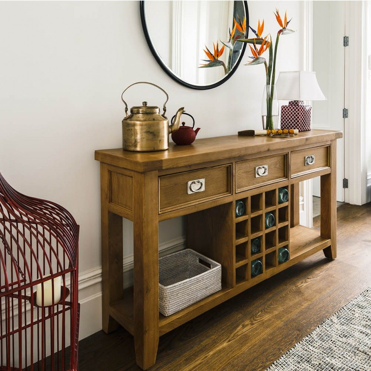 Oak Hill Wine Sofa Table