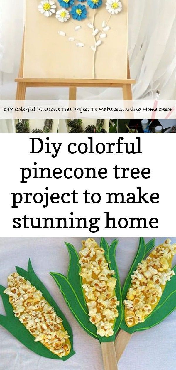 Diy colorful pinecone tree project to make stunning home decor #pineconeflowers Pine cones are easy to collect in the fall or winter on the ground. They always been used as decorative ornaments for seasonal home decor with different sizes. Decorating with pine cones is a great and affordable way, for pine cones are free and natural. They are perfect for holidays, especially Christmas. There are a wide variety of interesting pine cones crafts, from Christmas pine cone garlands, pine cone bract wr #pineconeflowers