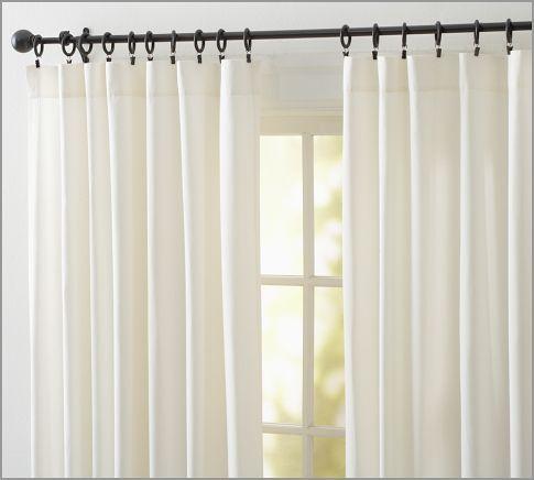 Cameron Cotton Pole Pocket Curtain Pottery Barn Curtains Drapes