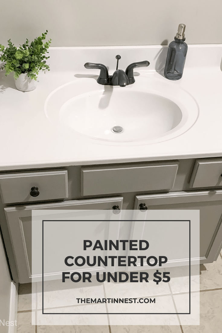 Painted Bathroom Sink For Under 5 Painting Bathroom Countertops