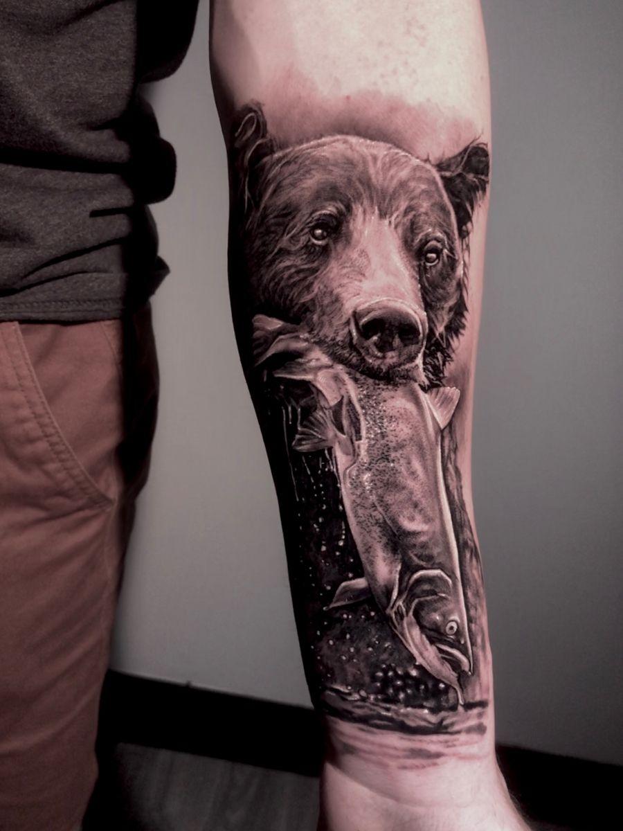 #beartattoo #naturetattoo #realismtattoo #tattoo #bear #FYINK #tattoorealistic #tattooideas #tattooart #toronto