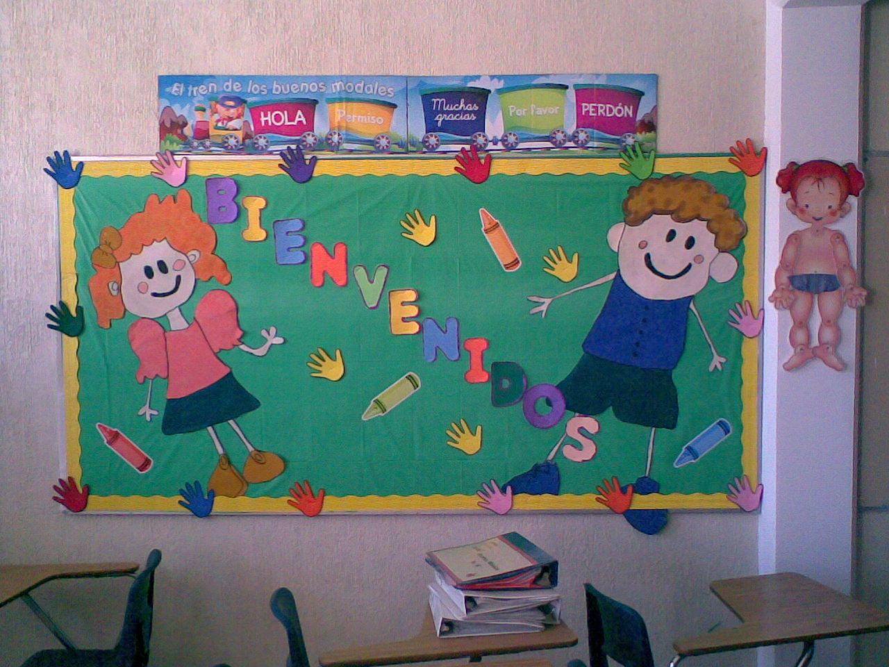 Bonita bienvenida escuela ideas pinterest - Murales para salon ...