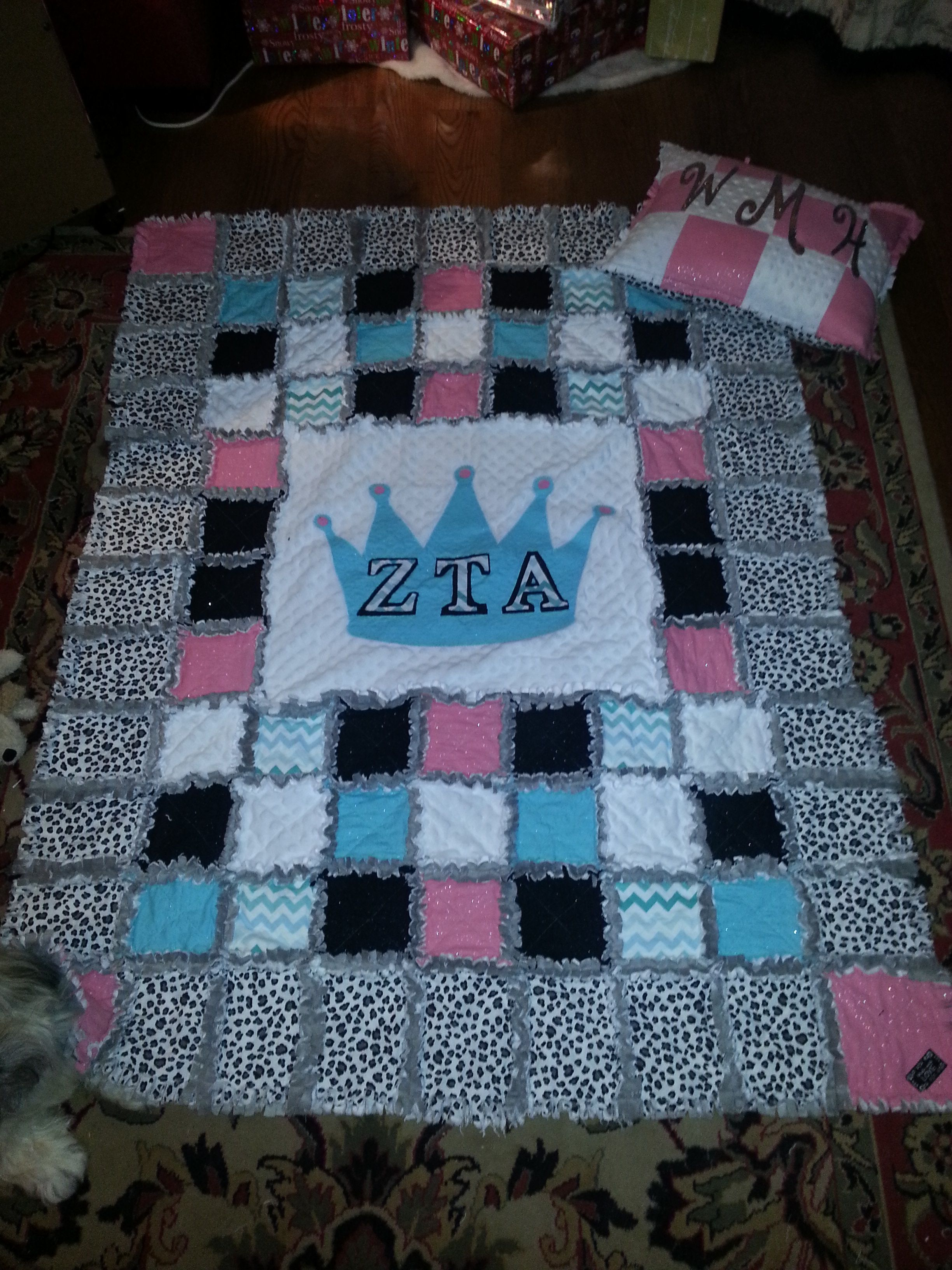 Diy Rag Quilt For Daughter Zta Knot 2 Shabby Decor Creations Sold