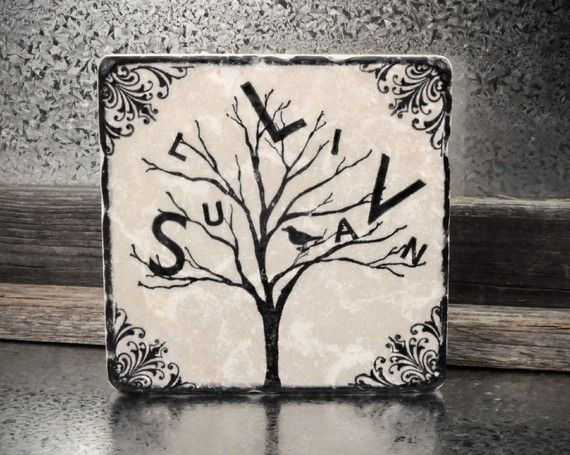 PersonaliTree Personalized Family Name Tree by SentimentalStones, $12.00