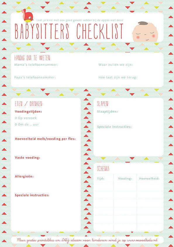babysitter checklist family binder printables babysitter checklist