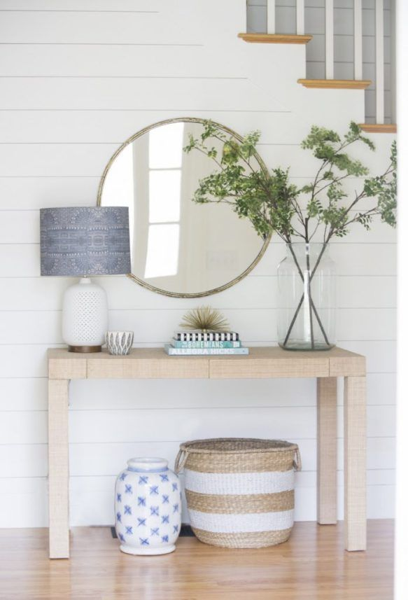 Consoles & Round Mirrors (Centsational Girl) is part of Console Table decor - I'm helping some new clients decorate their home  It's a new marriage for both and they're starting from scratch with new furniture as part of a fresh start  One area we're working on together is the