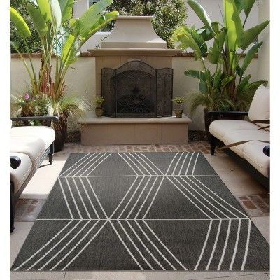 7 X 10 Tilt Outdoor Rug Gray