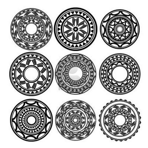 polynesian circle tattoo designs art pinterest circle tattoos rh pinterest com round tattoo designs for shoulder round small tattoo
