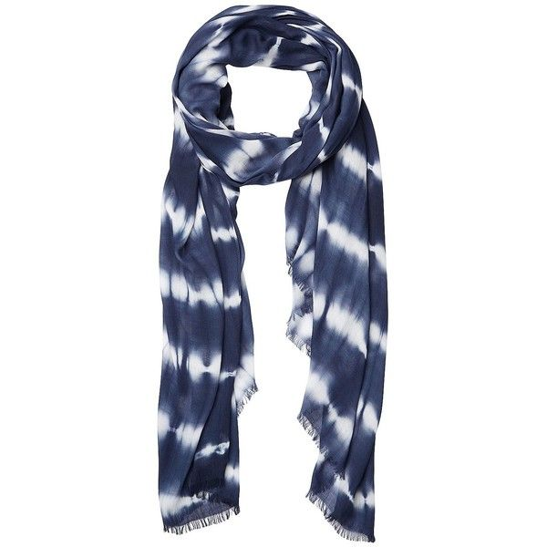 Witchery Tie Dye Stripe Scarf ($30) ❤ liked on Polyvore featuring accessories, scarves, ink, lightweight scarves, tie dye shawl, tie-dye scarves, tie dye scarves and print scarves