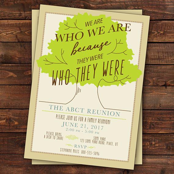 Family Reunion Invitation, Tree Family Reunion Invitation, Family - invitations for family reunion