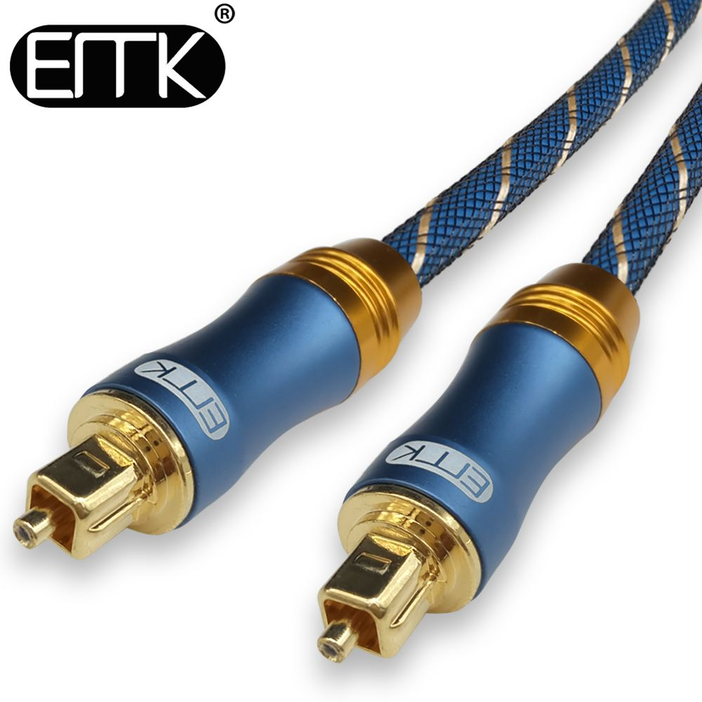 Emk 5 1 Digital Sound Spdif Optical Cable Toslink Cable Fiber Optical Audio Cable With Braided Jacket Od6 0 1m 2m 3m 10m 15m Digital Sound Audio Cable Optical