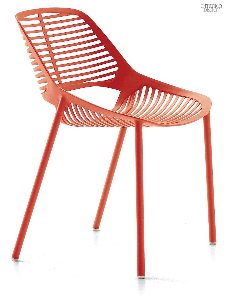 NeoCon 2015 Product Preview: Seating | Niwa chair in powder-coated aluminum by Janus et Cie. #interiordesign #interiordesignmagazine #design #seating #IDneocon @janusetcie