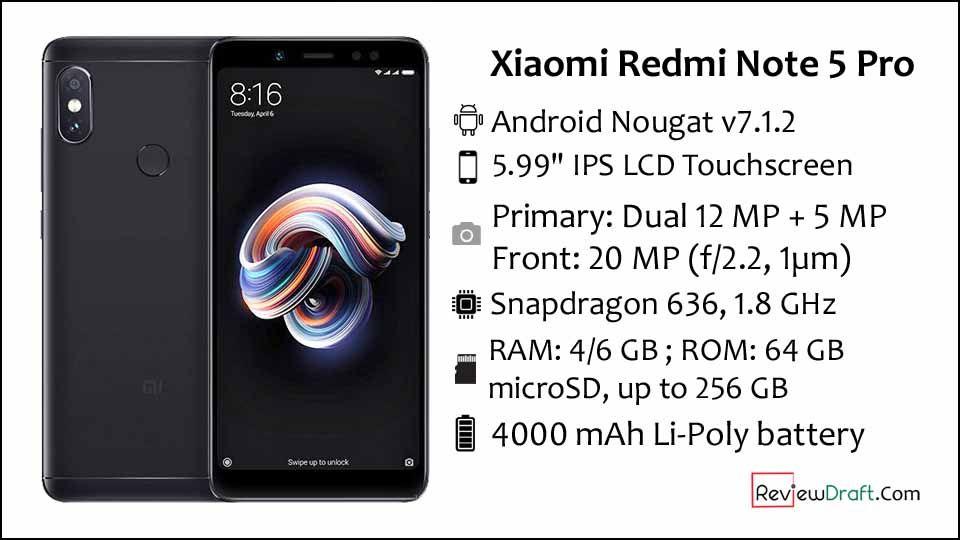 Xiaomi Redmi Note 5 Pro Price In Bangladesh Full Specification Xiaomi Best Phone Note 5