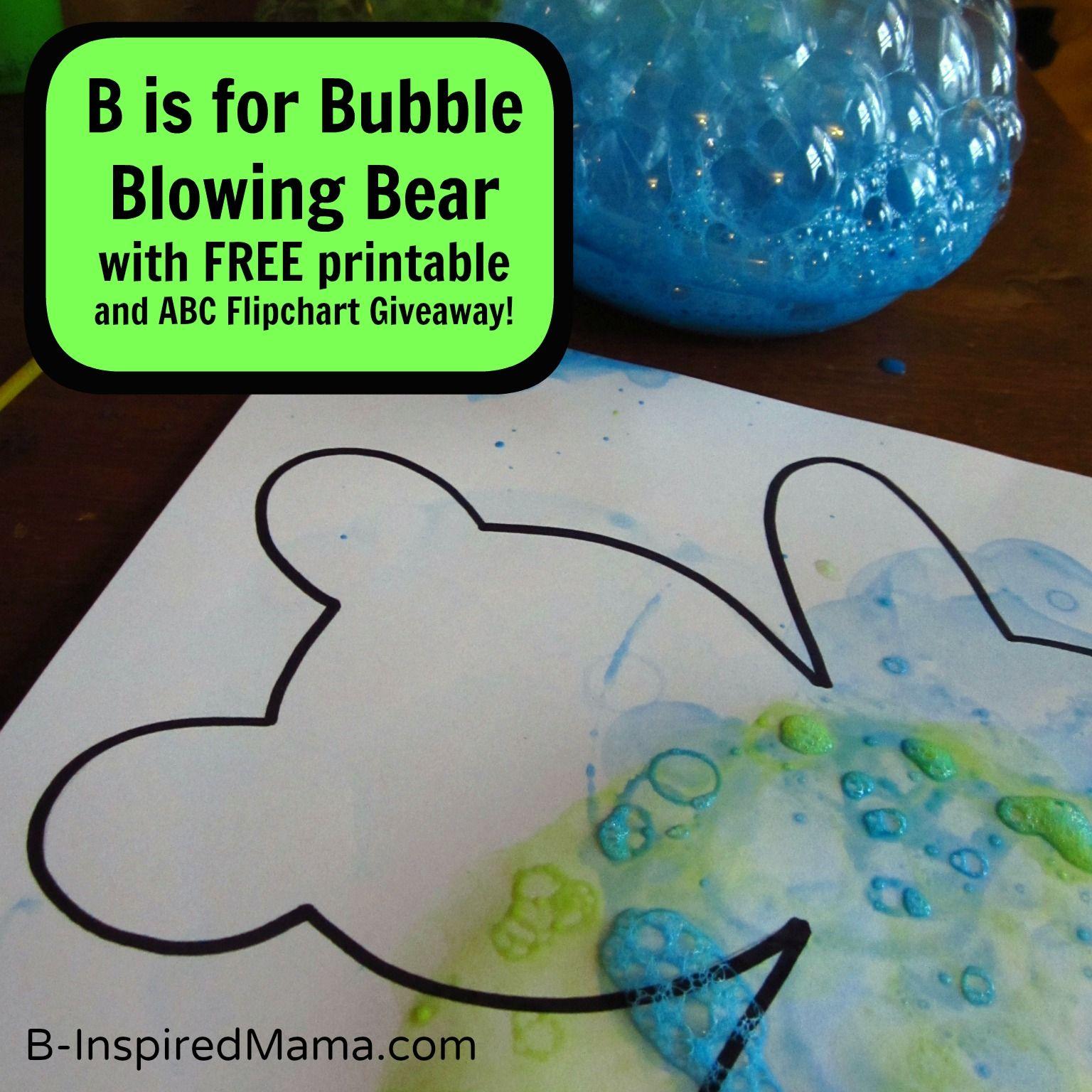 Letter B Bubble Blowing Bear Activity