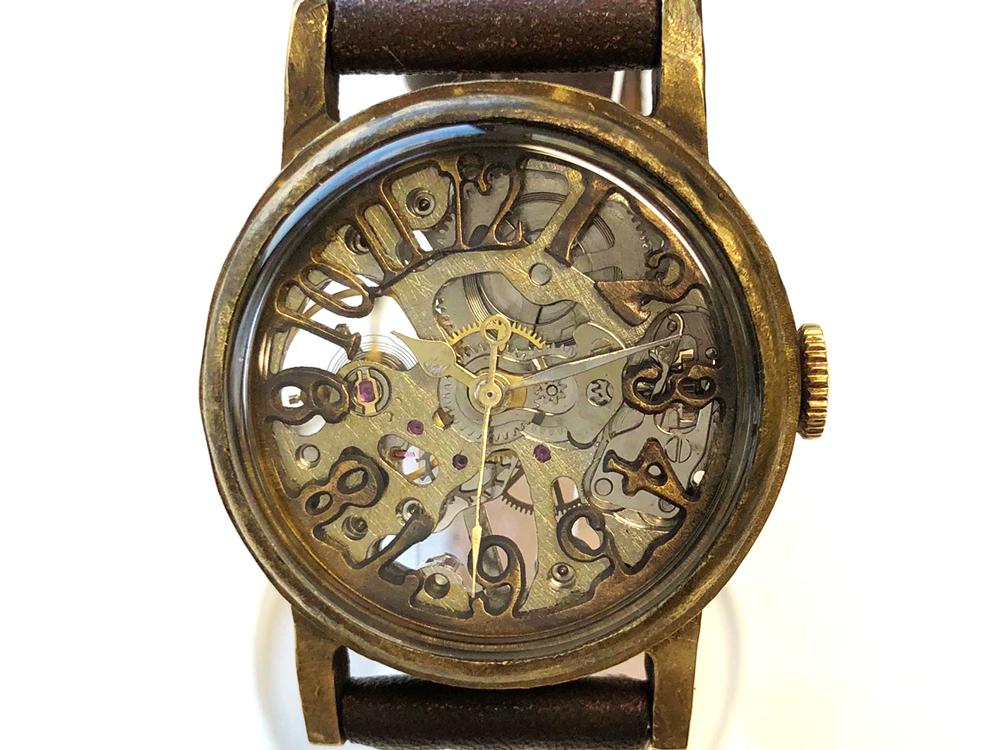 84974f07e6 手巻き式腕時計 個性的な文字盤が印象的な手作り腕時計: 廃墟・SF ...