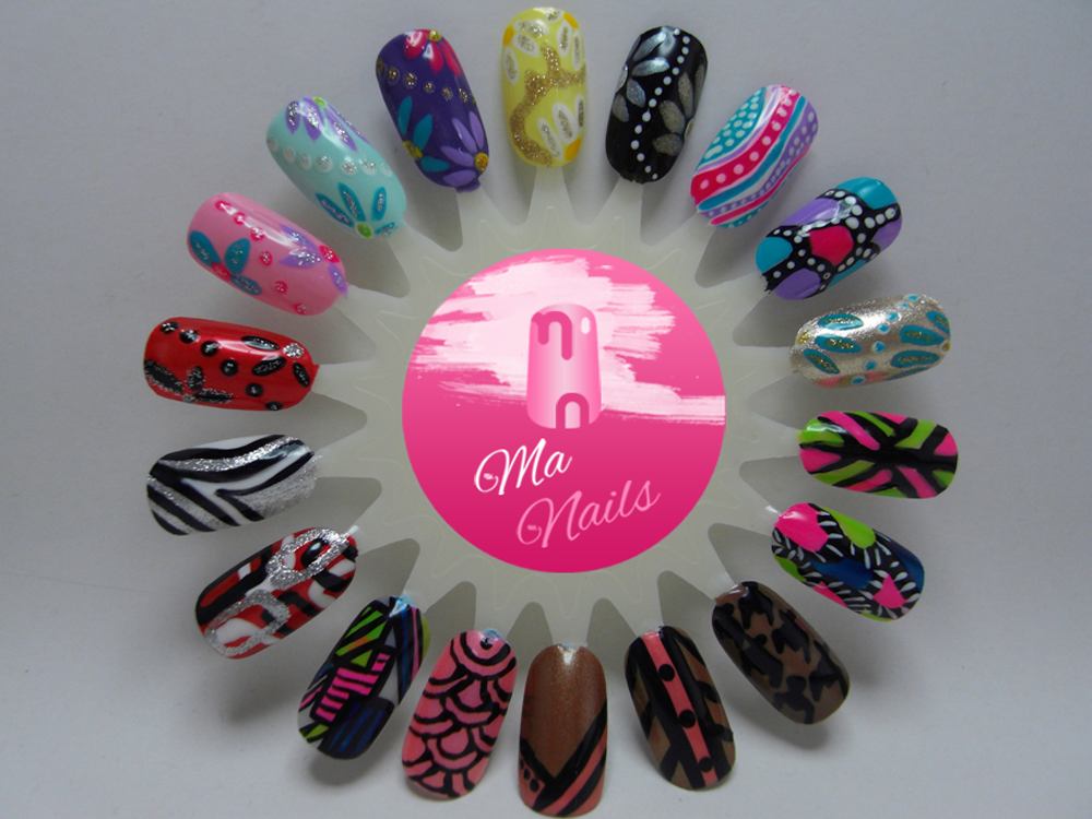Nail Art Designs using Nail Artist Stripers - Ma Nails | Nails - art ...