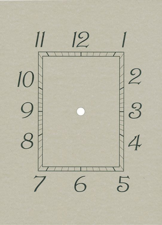 New Haven Clock Paper Dials New Haven Paper Dial Clock Face - clock templates