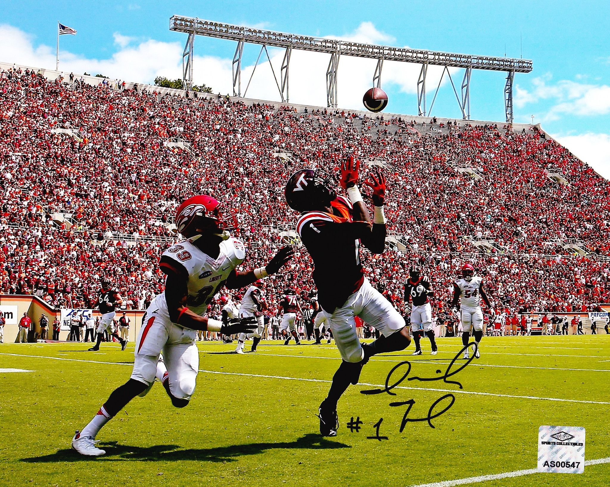 Virginia Tech Vt Hokies Isaiah Ford Signed Autographed 8x10 Photo