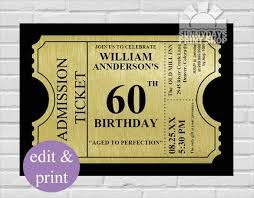 Image Result For 60th Birthday Invitations