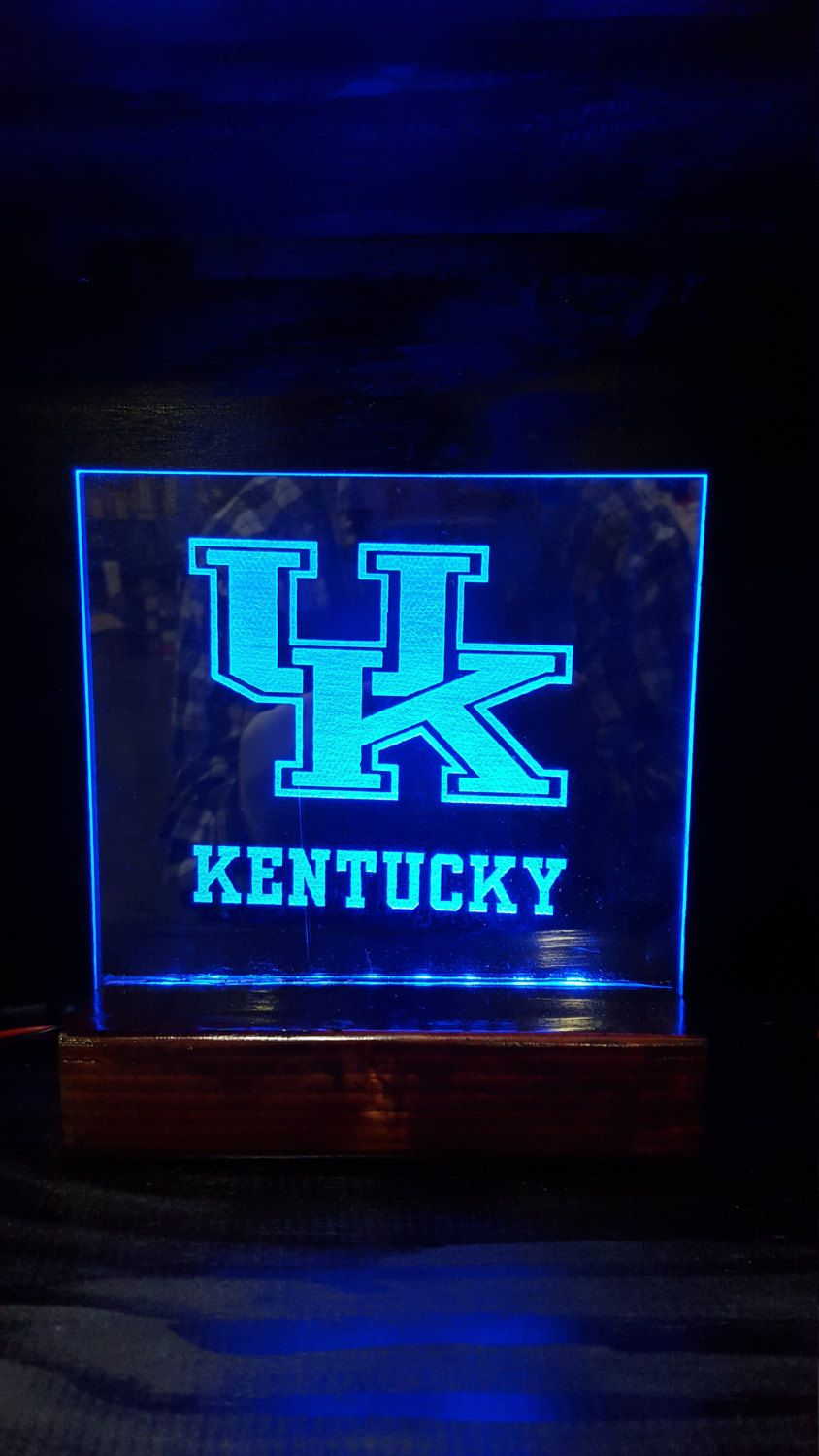 Acrylic Edge lit LED signs UK kentucky by Marysbowsnboards on Etsy