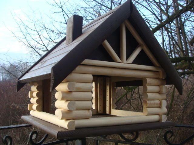Luxus XXL Vogelhaus Dunkel Braun #birdhouses