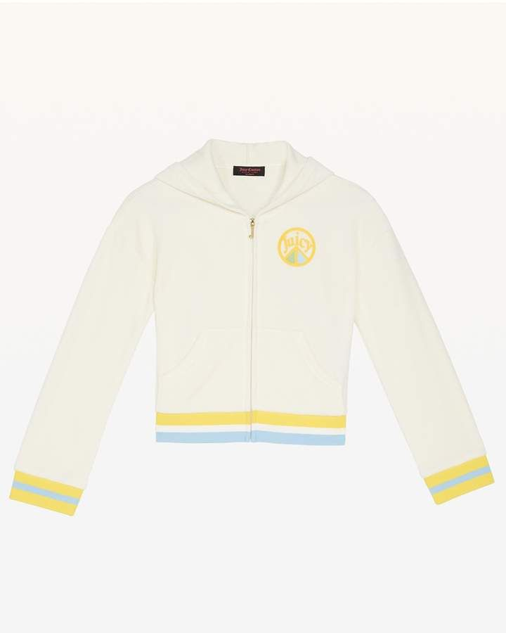 ad70376ee Juicy Peace Velour Hoodie for Girls #cheerful#detailed#hoodie. Juicy Peace  Velour Hoodie for Girls #cheerful#detailed#hoodie Stylish Clothes ...