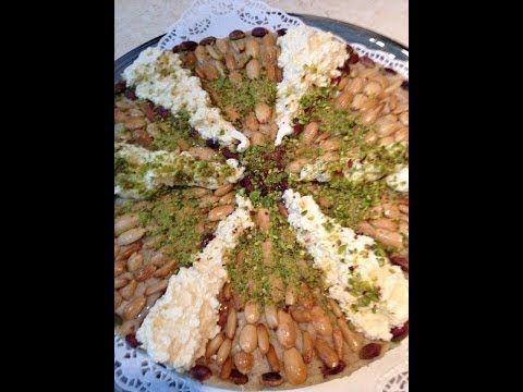 مدلوقه بالقشطه والمكسرات على الطريقة الحلبيه تحضير مدام دلال حناوي Arabic Desserts Lebanese Desserts Arabic Sweets
