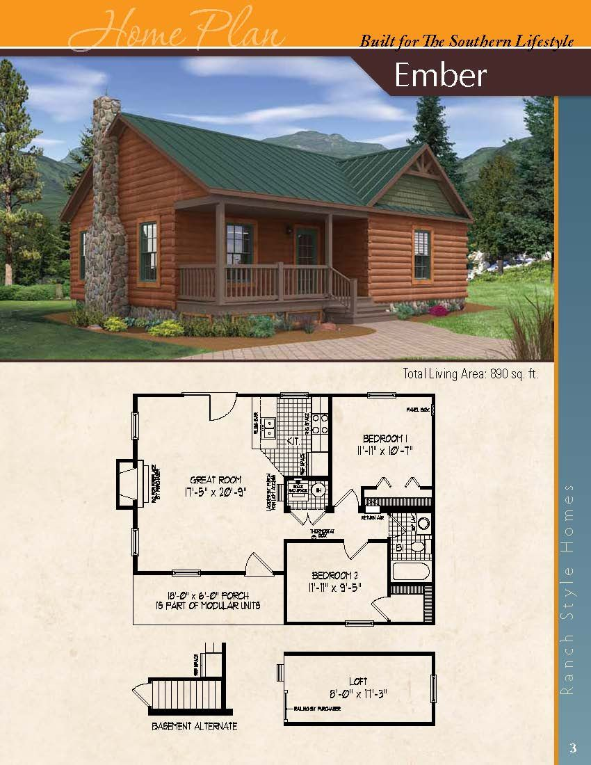 The Ember A Ranch Styled Home Dream House Plans Small Rustic House Small Cabin Plans