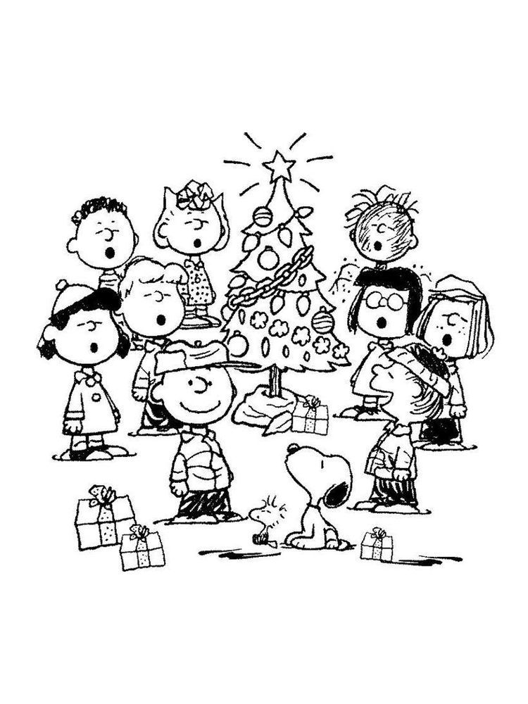 Charlie Brown Christmas Coloring Pages Printable