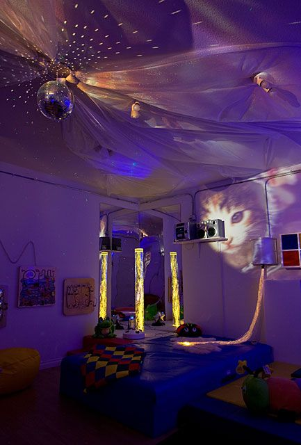 My Dream Therapy Area A Snoezelen Room With Disco Ball Giant Led Walls