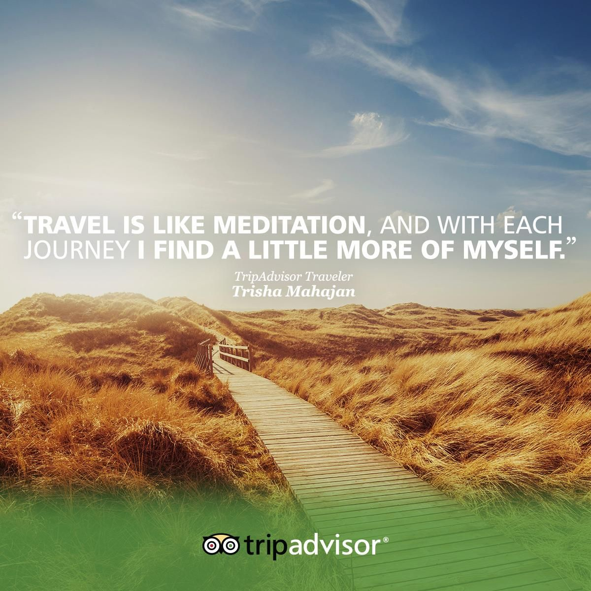 Travel Is Like Meditation And With Each Journey I Find A Little