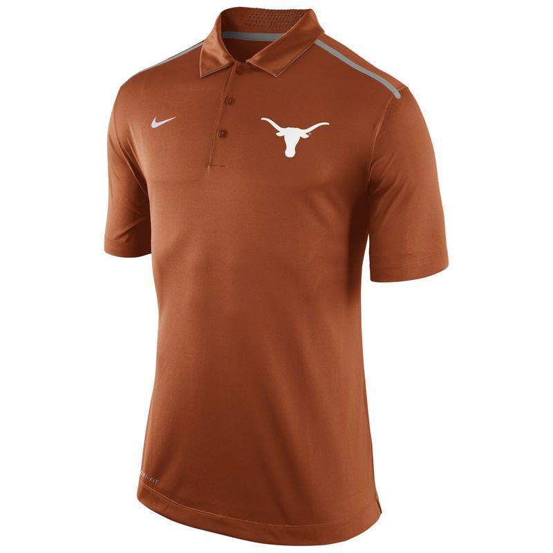 Texas Longhorns Nike Elite Coaches Dri-FIT Performance Polo - Burnt Orange