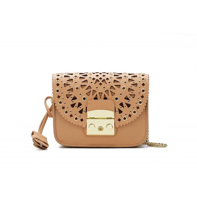403804ada4  78 - Shipping Worldwide - Eldora « Eloise » Genuine Leather Shoulder Bag  Brown 76348
