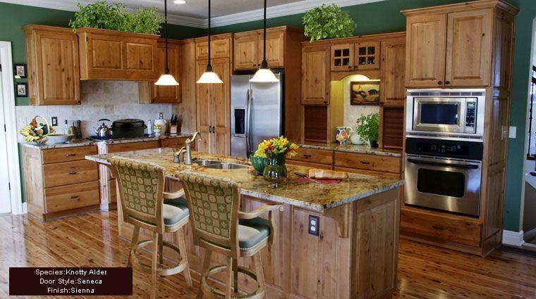 rustic kitchen tile backsplash with natural alderwood ...