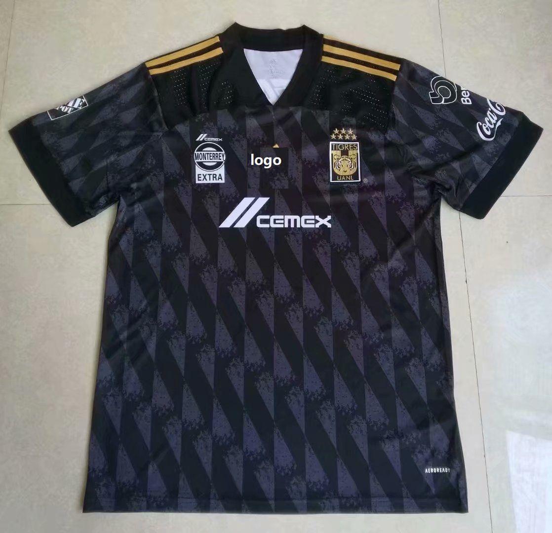 1920 thai quality tigers 3rd away black soccer jersey