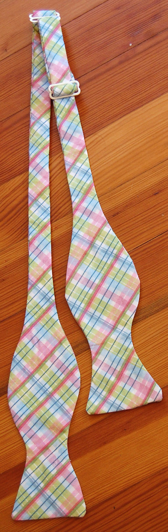 Bow Tie  Pastel Blue Green and Pink Plaid by HowDapperBowTies, $15.50