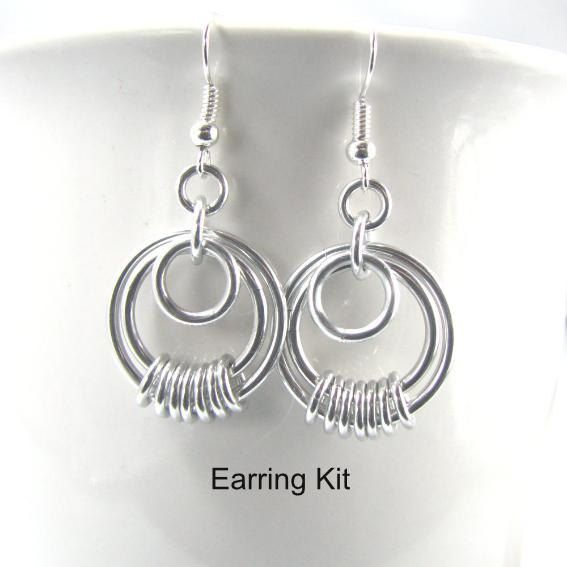 Serenity Chainmaille Earring Kit by dancingleafstudios on Etsy